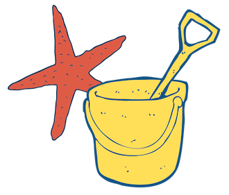 Starfish Bucket and Spade